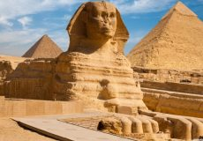 Pyramids and Sphinx