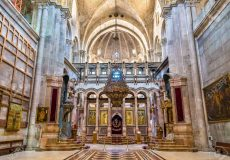 Interior of Church Holy Sepulchre Israel